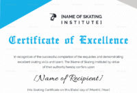 Certificate Of Excellence For Skating Design Template In for Awesome Certificate Of Excellence Template Word