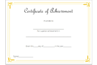 Certificate Of Outstanding Achievement Template Free 3 In inside Badminton Achievement Certificate Templates