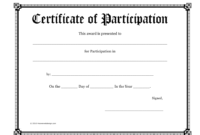 Certificate Of Participation Template Download Printable within Certificate Of Participation Template Pdf