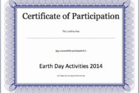 Certificate Of Participation Template Inspirational intended for Amazing Certificate Of Participation Template Doc 10 Ideas