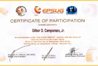 Certificate Of Participation Template  Joy Studio Design for Certificate Of Participation Template Pdf
