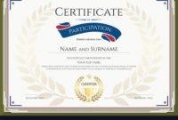 Certificate Of Participation Template Royalty Free Vector intended for Free 24 Martial Arts Certificate Templates 2020