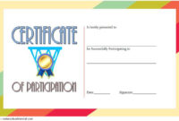 Certificate Of Participation Template Word Free Download for Printable Netball Certificate