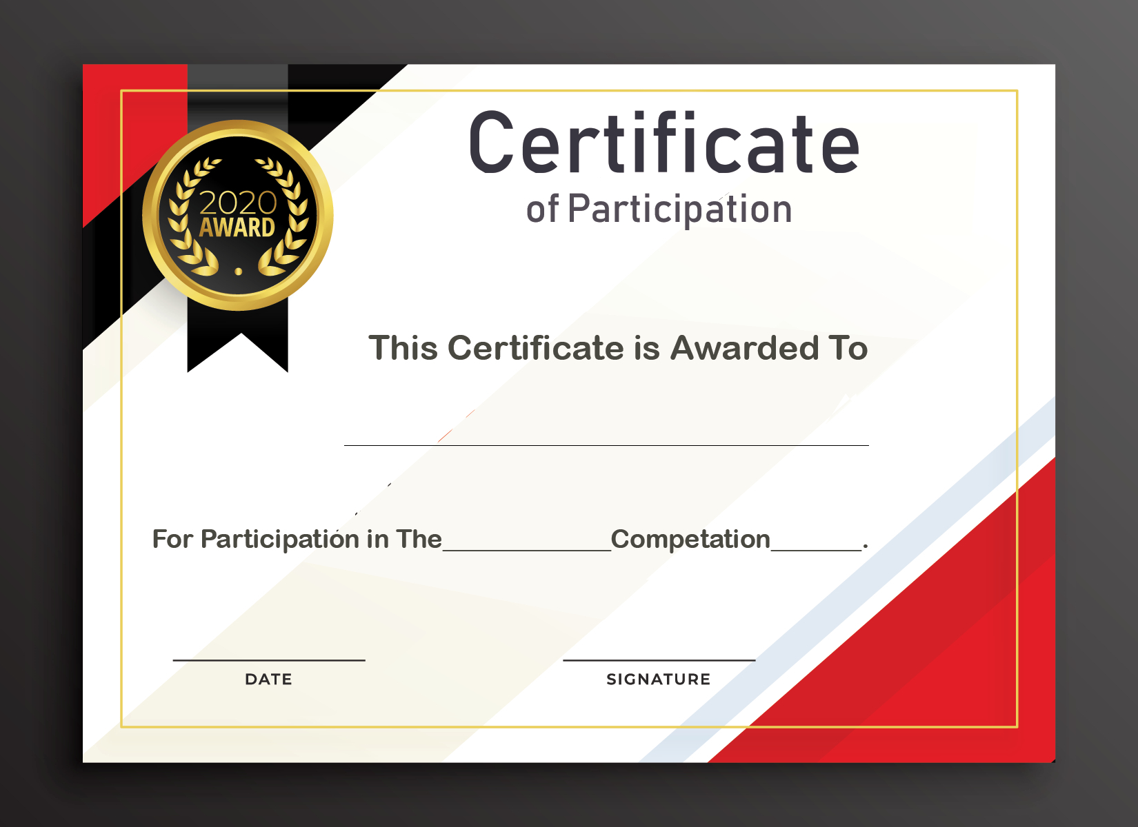 Certificate Of Participation Word Template  Business Plan with Certificate Of Participation Word Template