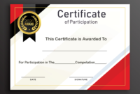 Certificate Of Participation Word Template  Business Plan with regard to Free Certificate Of Participation Template Word