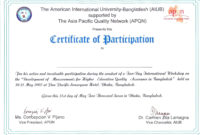 Certificate Of Participation Word Template  Great Sample intended for Sample Certificate Of Participation Template