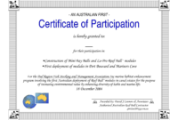 Certificate Of Participation Word Template Throughout throughout Certificate Of Participation Template Word
