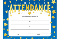 Certificate Of Perfect Attendance Sansurabionetassociats within Best Perfect Attendance Certificate Template Free