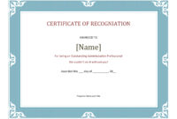 Certificate Of Recognition Template 2  Pdf Format  E pertaining to Printable Certificate Of Recognition Word Template