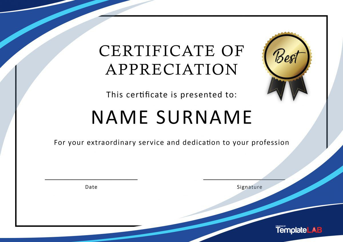 Certificate Of Recognition Template Word  Addictionary throughout Certificate Of Recognition Template Word