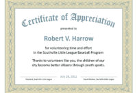 Certificate Of Recognition Word Template 1  Templates with Formal Certificate Of Appreciation Template