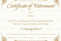 Certificate Of Retirement 922  Doc Formats In 2020 with Awesome Retirement Certificate Templates