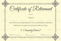 Certificate Of Retirement 926  Retirement Certificate within Free Retirement Certificate Templates For Word