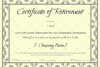 Certificate Of Retirement 928  Gct pertaining to Printable Retirement Certificate Template