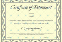 Certificate Of Retirement 928  Word Layouts throughout Amazing Free Retirement Certificate Templates For Word