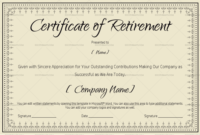 Certificate Of Retirement 931  Doc Formats for Construction Certificate Template 10 Docs Free