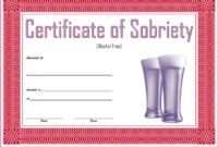 Certificate Of Sobriety Template Free 10 Latest Designs intended for Certificate Of Sobriety Template Free