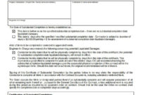 Certificate Of Substantial Completion Template in Amazing Certificate Of Construction Completion Template