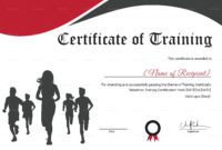 Certificate Of Training For Running Template In Psd Word throughout Free Marathon Certificate Templates