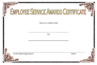 Certificate Of Years Of Service Template / 50 Multipurpose throughout Recognition Of Service Certificate Template