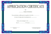 Certificate Of Years Of Service Template  Free Long for Amazing Long Service Certificate Template Sample