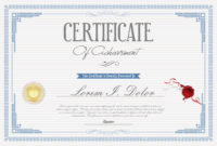 Certificate Or Diploma Retro Design Template Vector for Free Art Certificate Templates