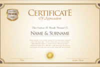 Certificate Or Diploma Retro Template  Download Free with regard to Commemorative Certificate Template