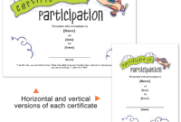 Certificate Or Participation Perfect For Vbs Sunday pertaining to Best Vbs Attendance Certificate Template