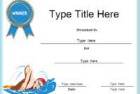 Certificate Street Free Award Certificate Templates  No inside Swimming Certificate Template