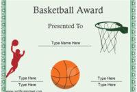 Certificate Street Free Award Certificate Templates  No regarding Basketball Camp Certificate Template