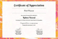 Certificate Template  45 Free Printable Word Excel Pdf in Awesome Template For Recognition Certificate