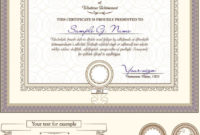 Certificate Template And Decoration Borders Design Vector regarding Awesome Certificate Border Design Templates