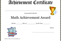 Certificate Template Archives  Professional Template for Math Award Certificate Template