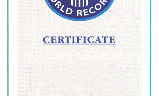 Certificate Template Archives  Professional Template pertaining to Best Guinness World Record Certificate Template
