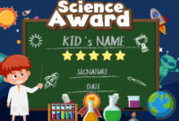 Certificate Template Design For Science Award With Boy In inside Free Science Award Certificate Templates