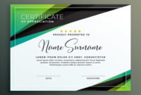 Certificate Template Design In Green Black Geometric for Netball Certificate Templates Free 17 Concepts