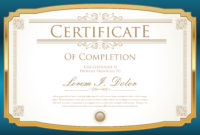 Certificate Template  Download Free Vectors Clipart within Quality Art Certificate Template Free