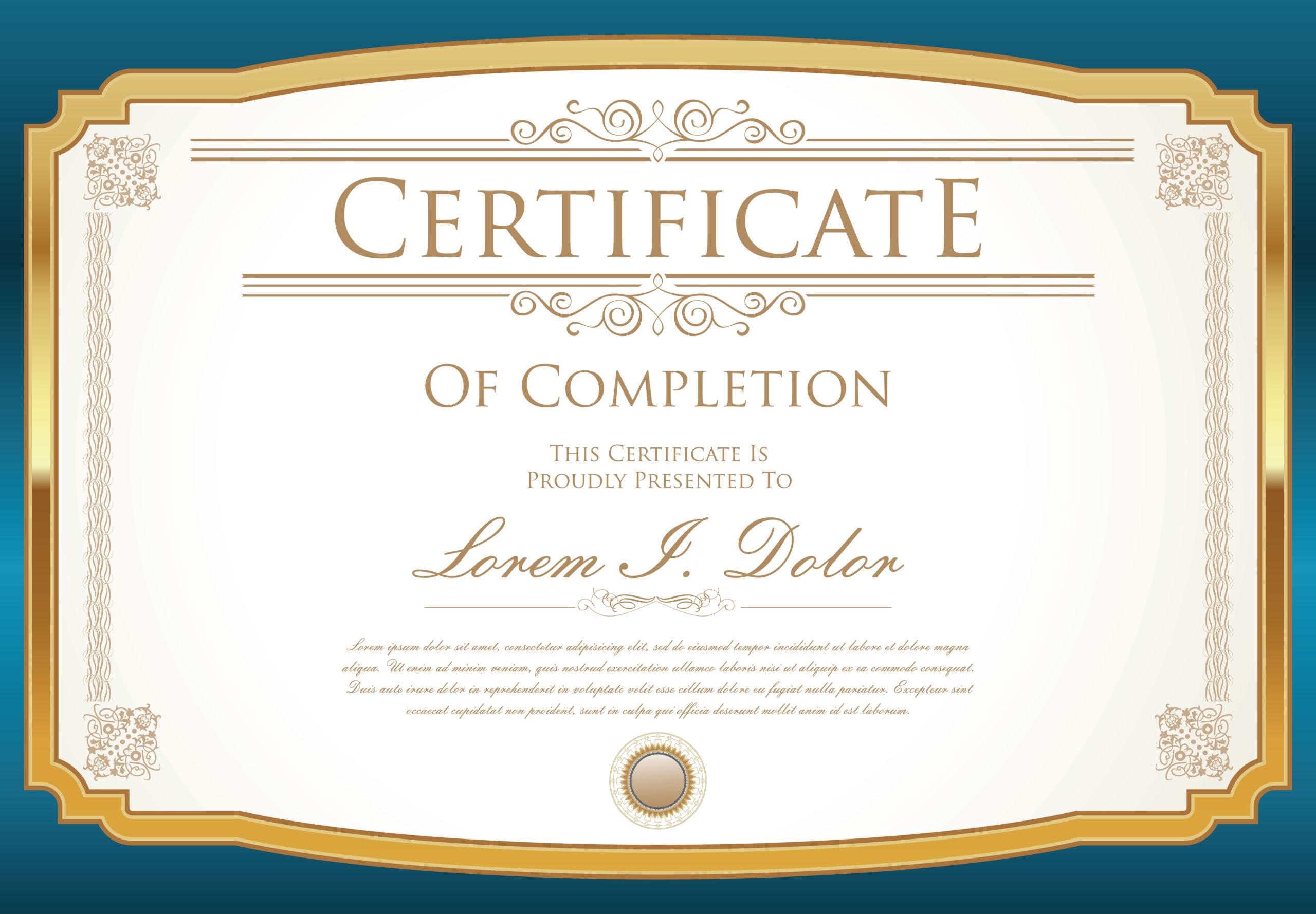 Certificate Template  Download Free Vectors Clipart within Quality Art Certificate Template Free