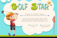 Certificate Template For Golf Star With Regard To Golf in Golf Certificate Template Free