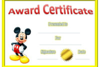 Certificate Template For Kids Certificates For Kids with regard to Printable Free Funny Award Certificate Templates For Word