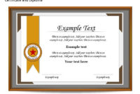 Certificate Template For Powerpoint  Certificates for Best Powerpoint Award Certificate Template
