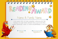 Certificate Template For Reading Award  Download Free pertaining to Printable Reader Award Certificate Templates