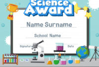 Certificate Template For Science Award With Kid In The Lab inside Science Achievement Certificate Template Ideas