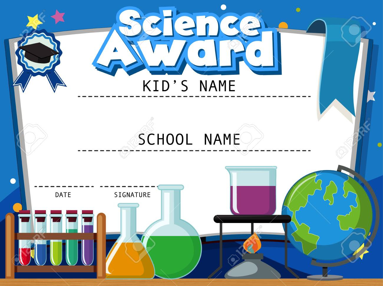 Certificate Template For Science Award With Science throughout Free Science Award Certificate Templates