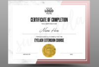 Certificate Template Instant Download Certificate Of throughout Completion Certificate Editable