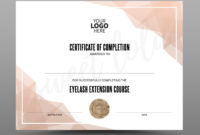 Certificate Template Instant Download Certificate Of within Awesome Completion Certificate Editable