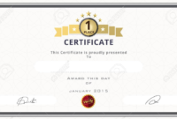 Certificate Template With First Place Concept Certificate inside Baby Shower Game Winner Certificate Templates