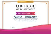 Certificate Templatediplomaa4 Size Vector Stock Vector pertaining to Best Certificate Template Size