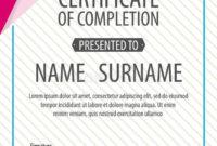 Certificate Templatediplomaletter Size Vector Stock with Best Certificate Template Size