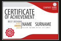 Certificate Templatediplomaletter Size Vector Stock within Best Certificate Template Size